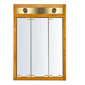 in square surface recessed mirrored wood medicine cabinet with lights. Black Bedroom Furniture Sets. Home Design Ideas