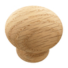 KraftMaid Round Oak Knob