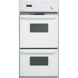 Maytag Self-Cleaning Double Electric Wall Oven (White) (Common: 24-in; Actual: 23.87-in)