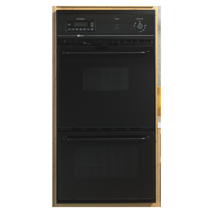Shop Maytag Self Cleaning Double Electric Wall Oven Black