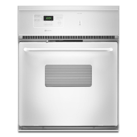 Maytag 24-in Self-Cleaning Single Electric Wall Oven (White)