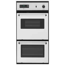 Maytag 24-in Self-Cleaning Double Electric Wall Oven (Stainless Steel)