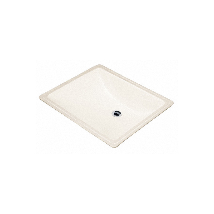 Shop Danze Cobalt Biscuit Undermount Square Bathroom Sink with ...