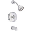 Danze Fairmont Chrome 1-Handle Bathtub and Shower Faucet Trim Kit with Single Function Showerhead