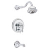 Danze Opulence 1-Handle Bathtub and Shower Faucet Trim Kit with Multi-Function Showerhead