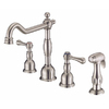 Danze Opulence Stainless Steel 2-Handle High-Arc Kitchen Faucet with Side Spray