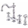 Danze Opulence 2-Handle High-Arc Kitchen Faucet with Side Spray