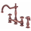Danze Opulence Antique Copper 2-Handle High-Arc Kitchen Faucet with Side Spray