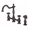 Danze Opulence Oil-Rubbed Bronze 2-Handle High-Arc Kitchen Faucet with Side Spray
