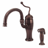 Danze Antioch Oil-Rubbed Bronze 1-Handle High-Arc Kitchen Faucet with Side Spray