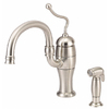 Danze Antioch Stainless Steel 1-Handle High-Arc Kitchen Faucet with Side Spray