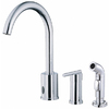 Danze Parma Chrome 1-Handle High-Arc Kitchen Faucet with Side Spray