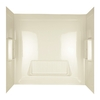 ASB Proseries 61-in W x 30-in D x 58-in H High Gloss Bone Granite Polystyrene Bathtub Wall Surround