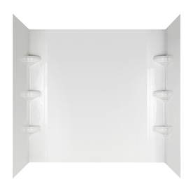 Aqua Glass Avondale 60-in W x 32-in D x 58-in H High Gloss White Polystyrene Bathtub Wall Surround