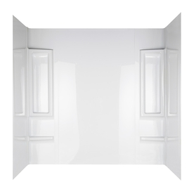 Aqua Glass Proclaim High-Impact Polystyrene Bathtub Wall Surround (Actual: 58-in x 31-in x 60-in)