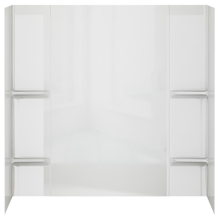 Shop Peerless High Gloss White Styrene Bathtub Wall