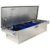 Kobalt 70-1/2-in x 27-1/2-in x 17-1/4-in Silver Aluminum Full-Size Truck Tool Box