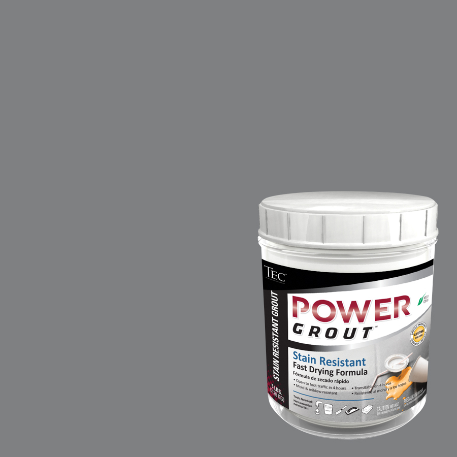 Shop Tec 5 Lb Light Pewter Sanded Powder Grout At Lowes Com