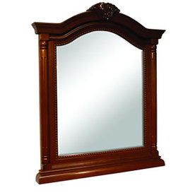 Foremost 36-1/4-in H x 26-in W Wingate Cherry Arch Bathroom Mirror