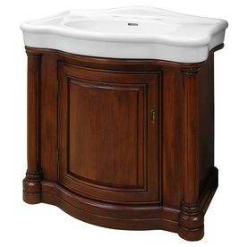 Vanity with Vitreous China Top Actual: 31.875in x 21.25in at Lowes