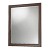 Foremost 32-in H x 28-in W Hawthorne Dark Walnut Rectangular Bathroom Mirror