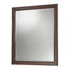 Foremost Hawthorne 28.125-in W x 32-in H Dark Walnut Rectangular Bathroom Mirror