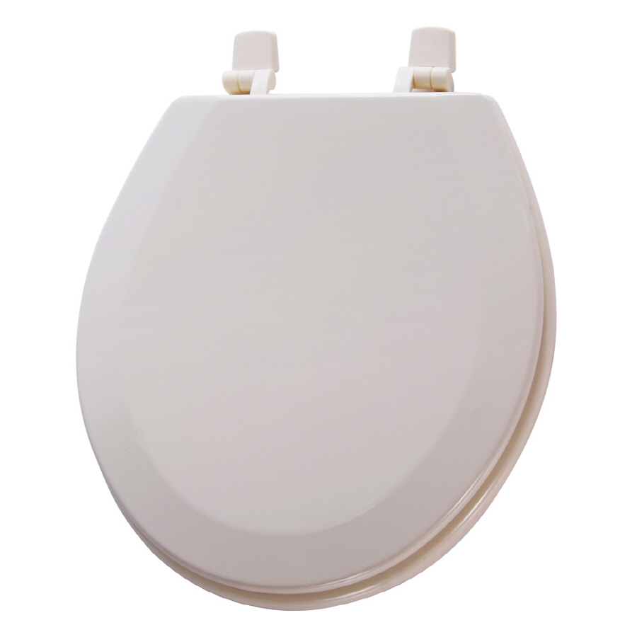 Shop Aquasource Biscuit Wood Round Toilet Seat At