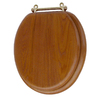 AquaSource Wood Round Toilet Seat