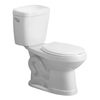 AquaSource All-in-One White 1.28 GPF High Efficiency WaterSense Round 2-Piece Toilet