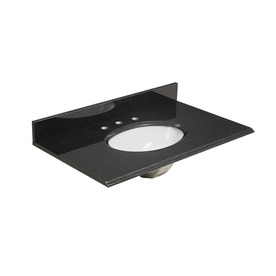allen + roth Midnight Black Granite Undermount Single Sink Bathroom Vanity Top (Actual: 37-in x 22-in)