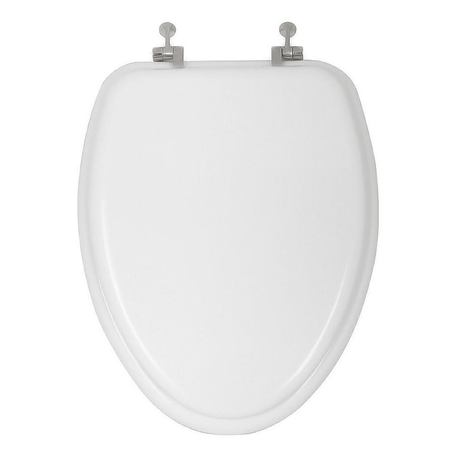 Shop AquaSource White Wood Elongated Toilet Seat At