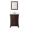 Style Selections 24-5/8-in Auburn Single Sink Bathroom Vanity with Top