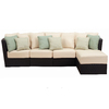 Foremost Casual 5-Piece Tremblay Extruded Aluminum Patio Sectional Furniture with Ottoman