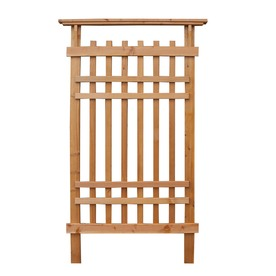 Garden Architecture 36-in W x 61-in H Stained Craftsman Garden Trellis