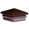 Woodway Red Glass Deck Post Cap (Fits Common Post Measurement: 4-in x 4-in; Actual: 5.06-in x 5.06-in x 2.875-in)
