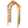 Garden Architecture 44.5-in W x 89.25-in H Natural Cedar Arched Garden Arbor