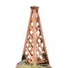 Garden Architecture 16.50-in W x 48.75-in H Natural Copper Pyramid Garden Trellis