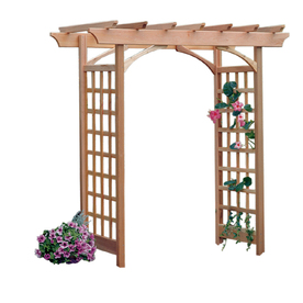 Garden Architecture 81.5-in W x 87-in H Natural Grand Garden Arbor