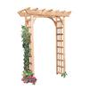 Garden Architecture 64-in W x 84-in H Natural Pergola Style Garden Arbor