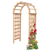 Garden Architecture 41.25-in W x 87-in H Natural Classic Arch Garden Arbor
