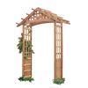 Garden Architecture 72.75-in W x 97-in H Natural Gable Garden Arbor