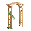 Garden Architecture 64.5-in W x 90.5-in H Natural Gable Style with Windows Garden Arbor