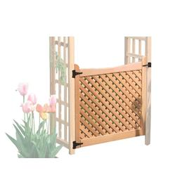 Garden Architecture Natural Western Red Cedar Arbor Gate