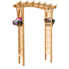 Garden Treasures 64-in W x 86.25-in H Stain Natural Pergola Style Garden Arbor