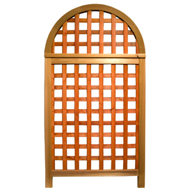 Garden Architecture 36.25-in W x 66.75-in H Red Stain Arched Landscape Screen Garden Trellis