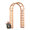 Garden Architecture 41.25-in W x 86-in H Natural Arch Garden Arbor