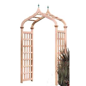Garden Architecture 48-in W x 89.5-in H Natural Moorish Style Arch Garden Arbor