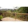 Top Choice Instarail Natural Western Cedar Deck Railing Kit (Assembled: 5.77-ft x 3-ft)
