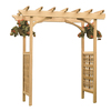 Garden Architecture 81.5-in W x 87-in H Natural Grand Arbor Garden Arbor