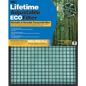 WEB Washable Adjustable Air Filter (Common: 25-in x 20-in x 1-in; Actual: 24.625-in x 19.625-in x 0.875-in)